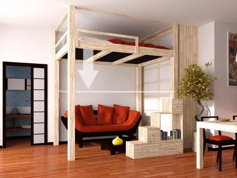 Hochbett aus Holz RISING by Cinius