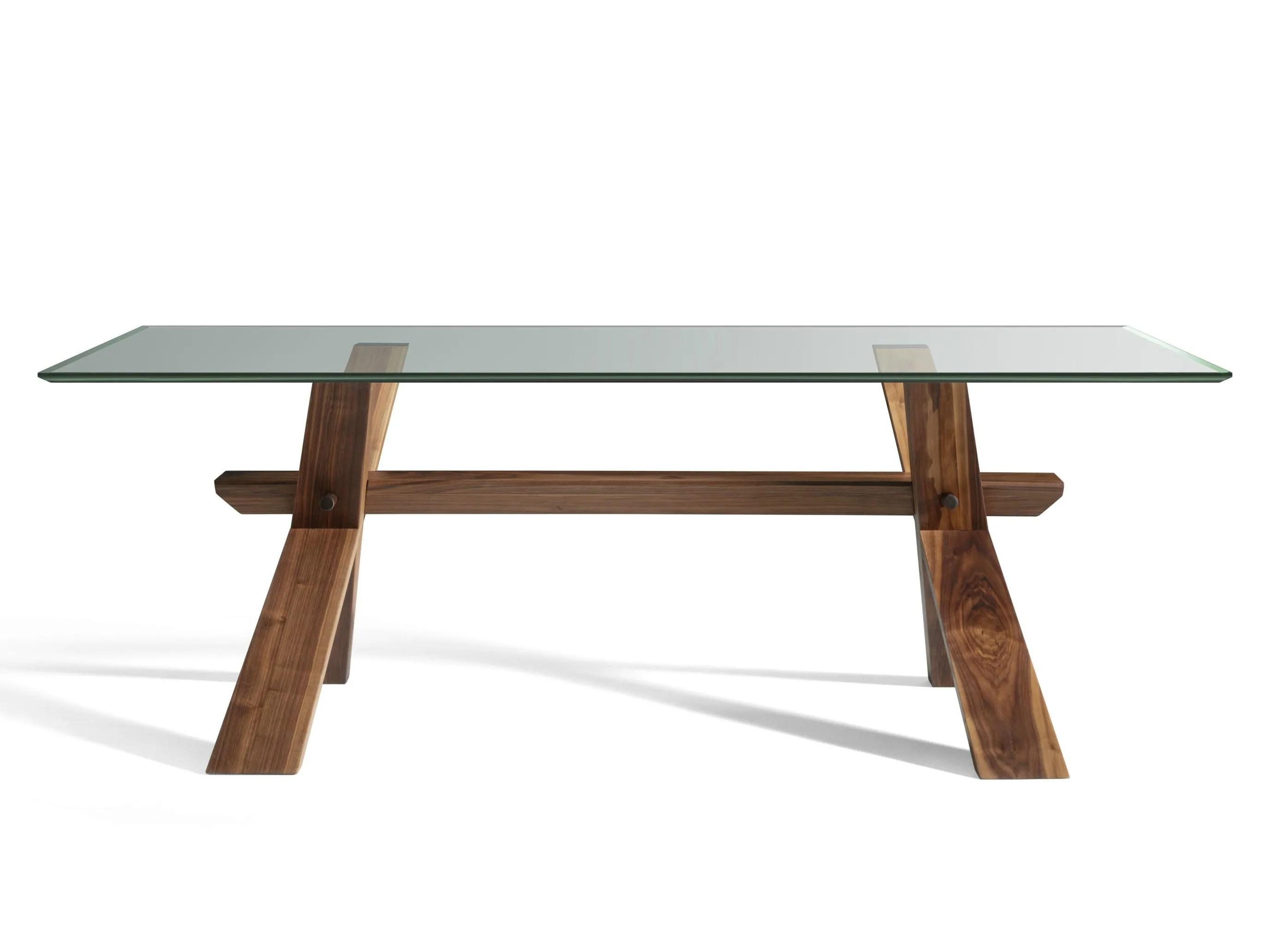 DECIMO Tavolo in legno e vetro by LOttocento