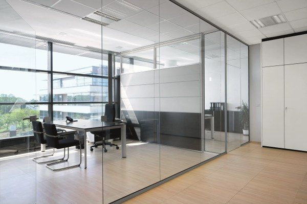 Glass Office Partition Rg Wall Bene Design