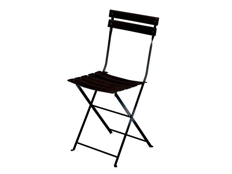 Chaise pliante en acier inoxydable CELESTINA By Zanotta