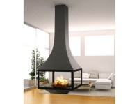 WOOD-BURNING HANGING FIREPLACE WITH PANORAMIC GLASS ...