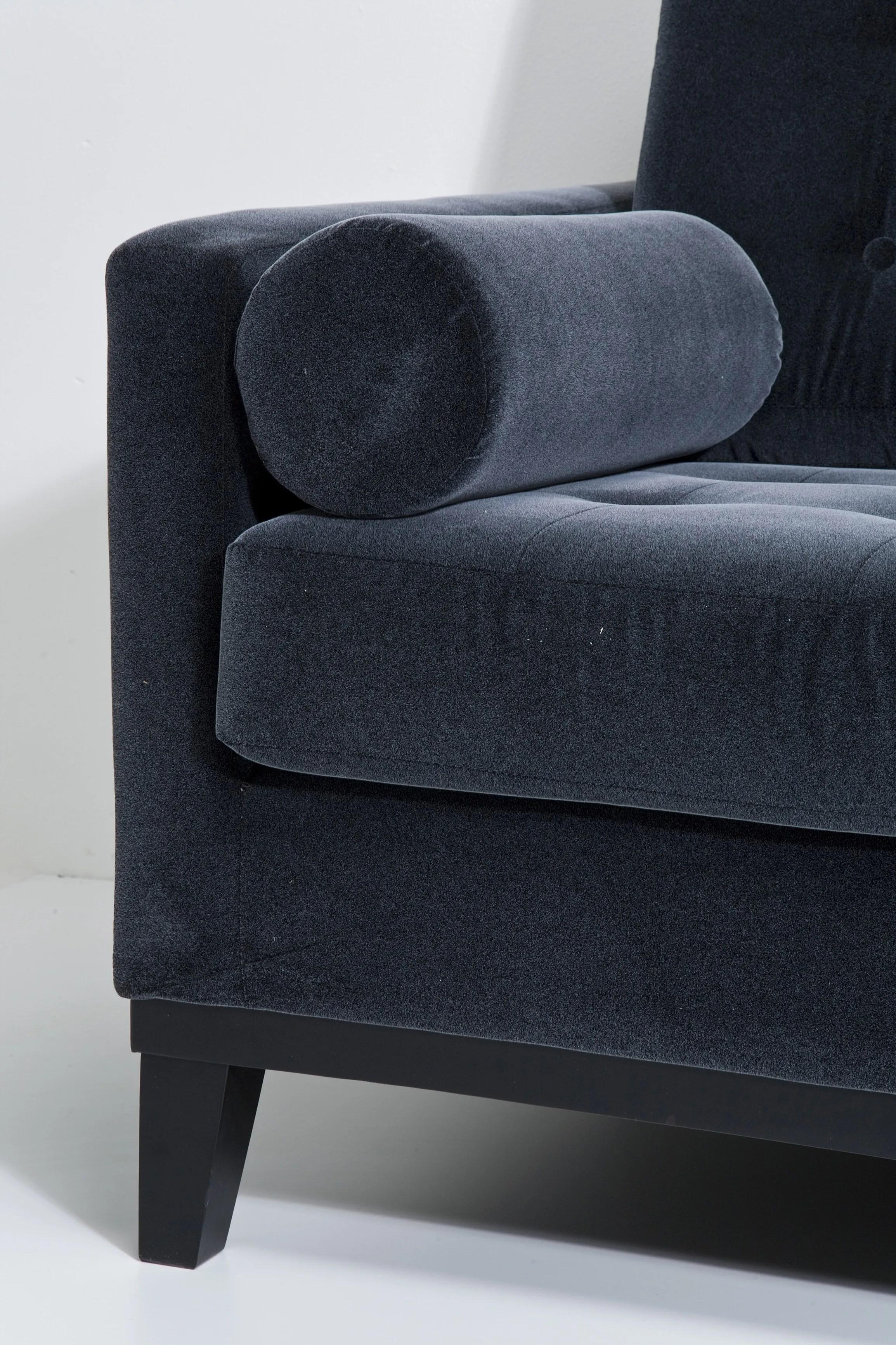 3 seater fabric sofa grey furniture made in usa casino dark by kare design