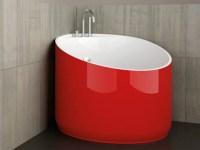 Corner round bathtub MINI RED FERRARI by Glass Design