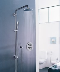 Shower panel with overhead shower RAINSHOWER SYSTEM By Grohe
