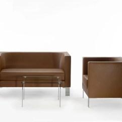 Bay Sofa U Sort Laeder By Rossin Design Hanno Giesler