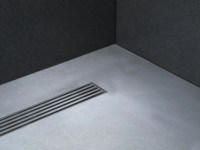FLUSH FITTING STAINLESS STEEL SHOWER TRAY LINEAR DRAIN