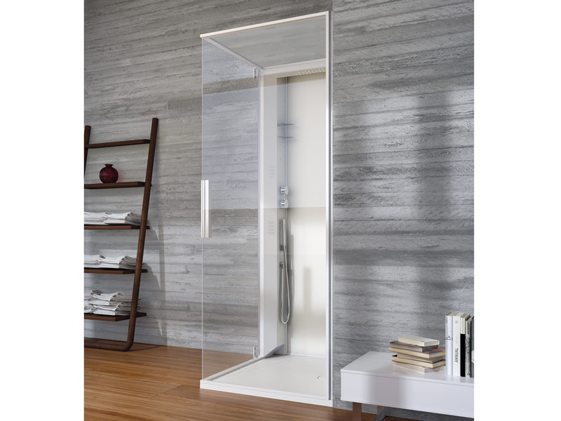 SKIN Box doccia rettangolare by Glass 1989 design Claudia Danelon