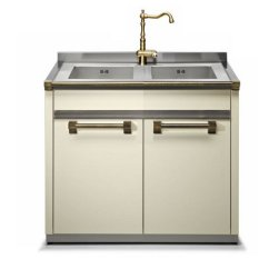 48 Kitchen Sink Base Cabinet Lowes White Ascot Unit With Double By Steel
