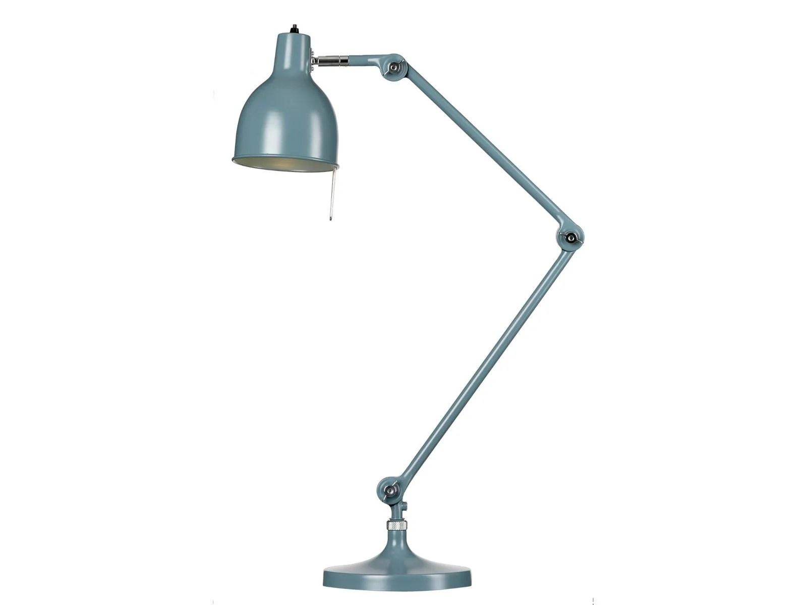 Lampada Da Tavolo In Metallo Smaltato Con Braccio