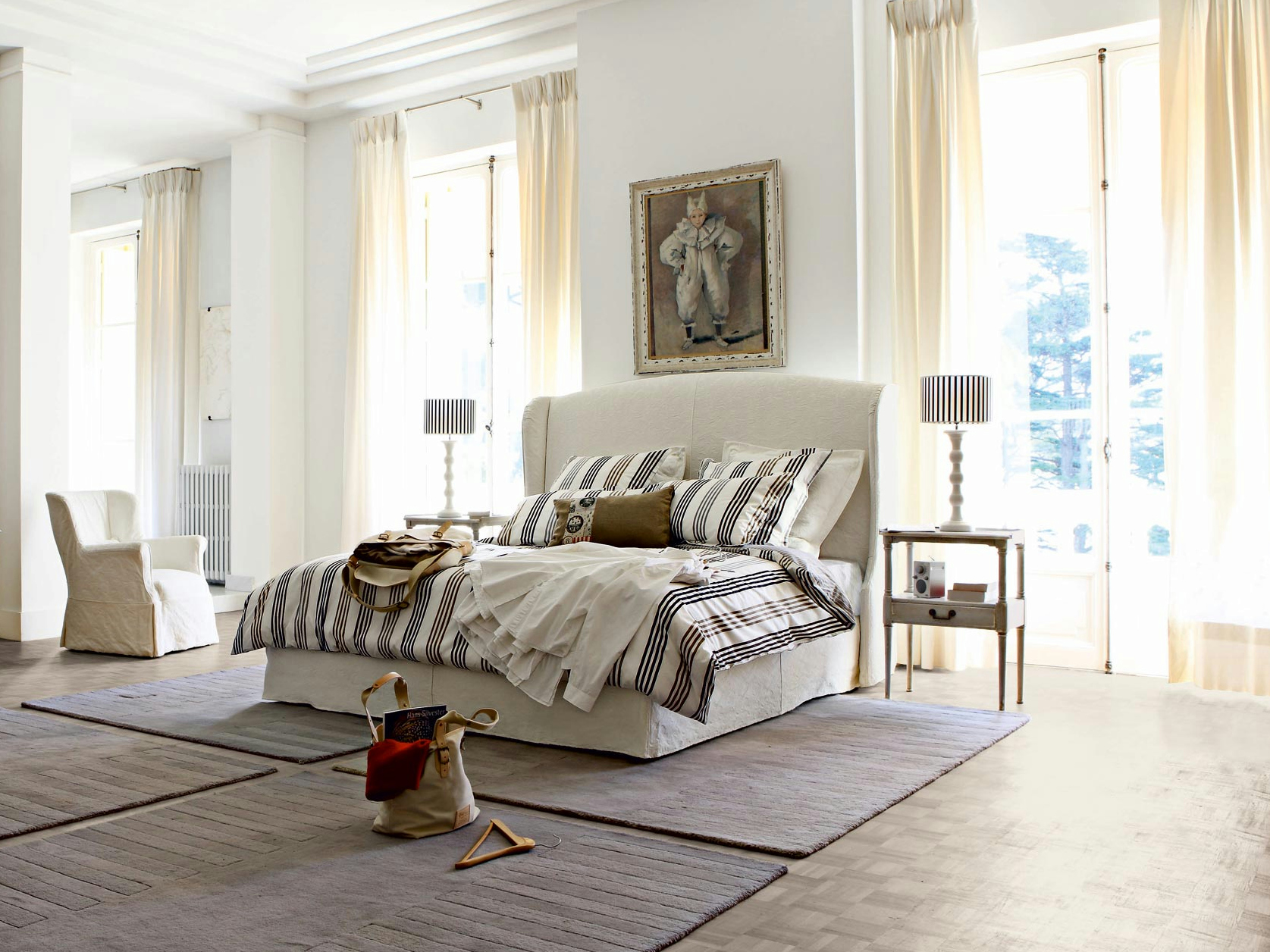 FABRIC BED WITH REMOVABLE COVER AURORE NOUVEAUX CLASSIQUES