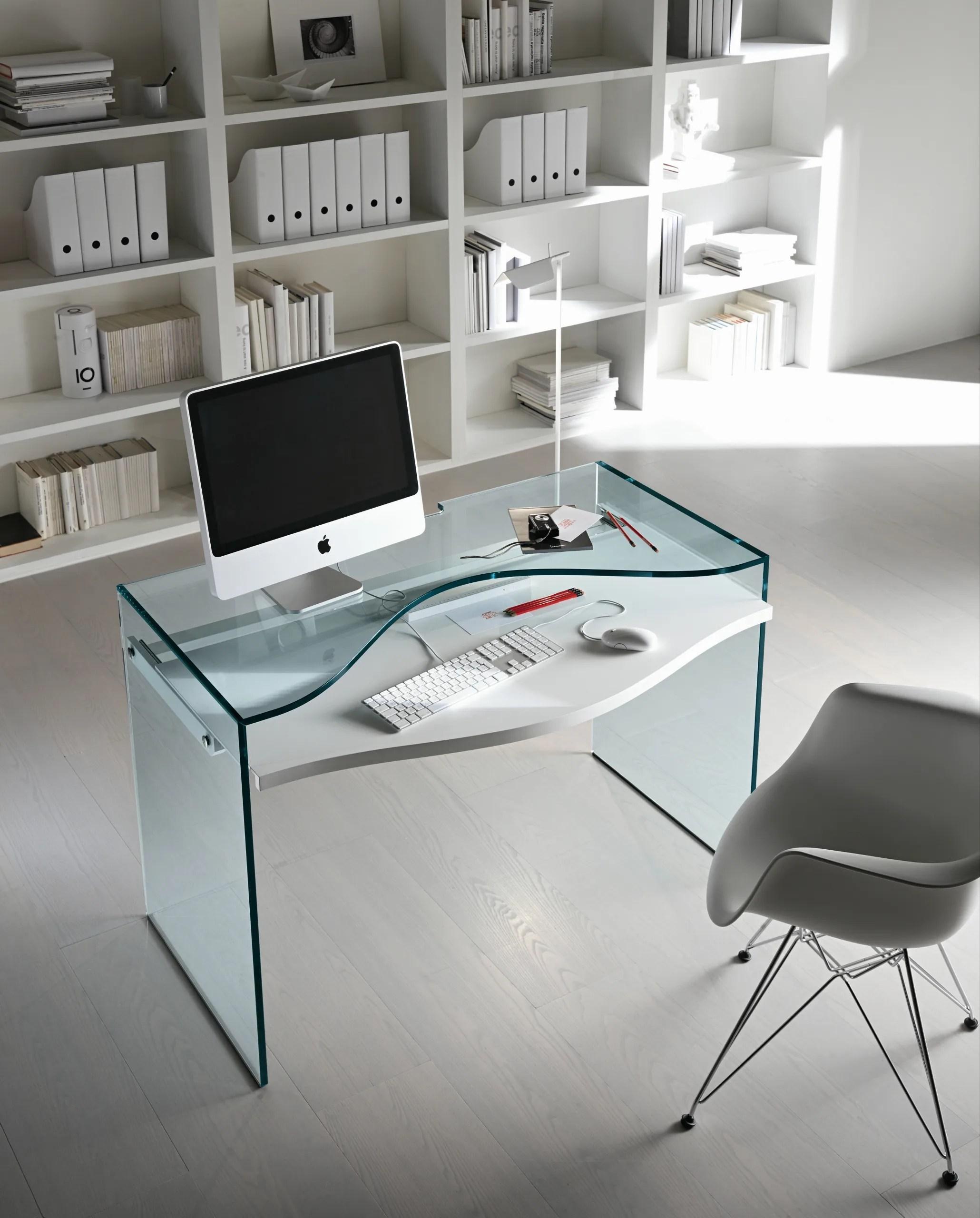 Secretria de vidro para PC STRATA by TD Tonelli Design