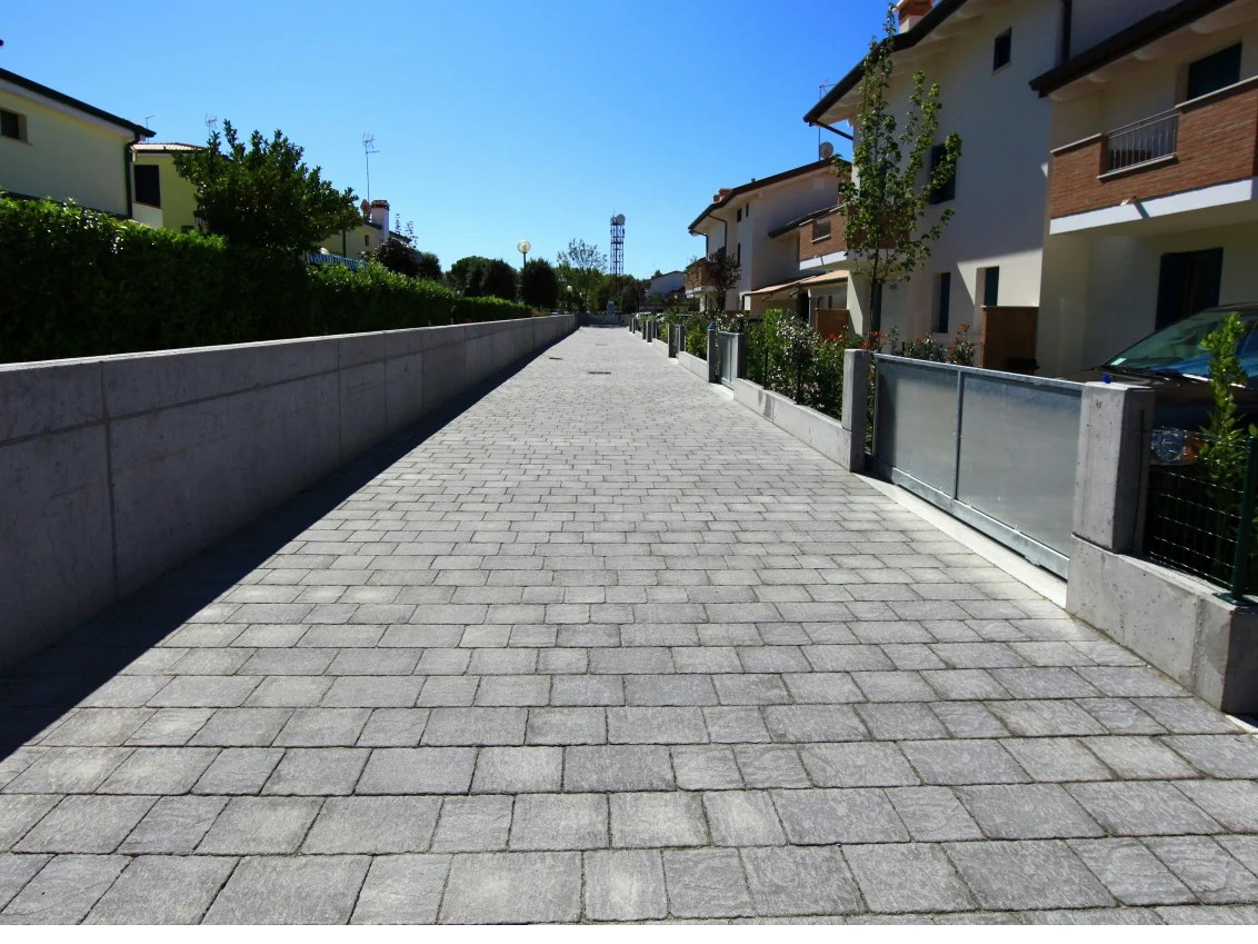 Cement outdoor floor tiles with stone effect BORGO LAVAGNA