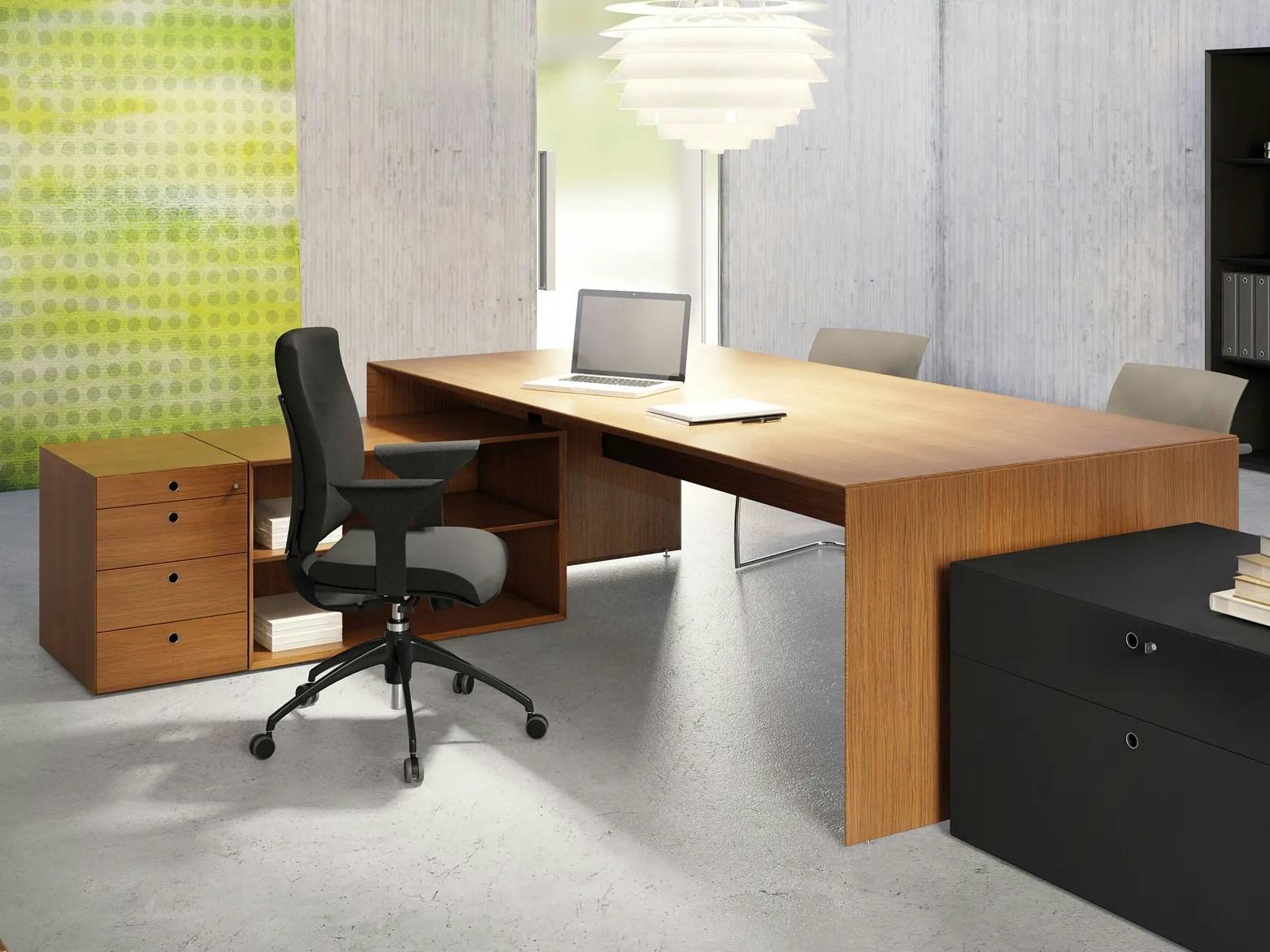QUARANTA5  Teak office desk By FANTONI