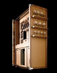 Inlaid wood bar cabinet for wines WINE TOWER by TONCELLI ...