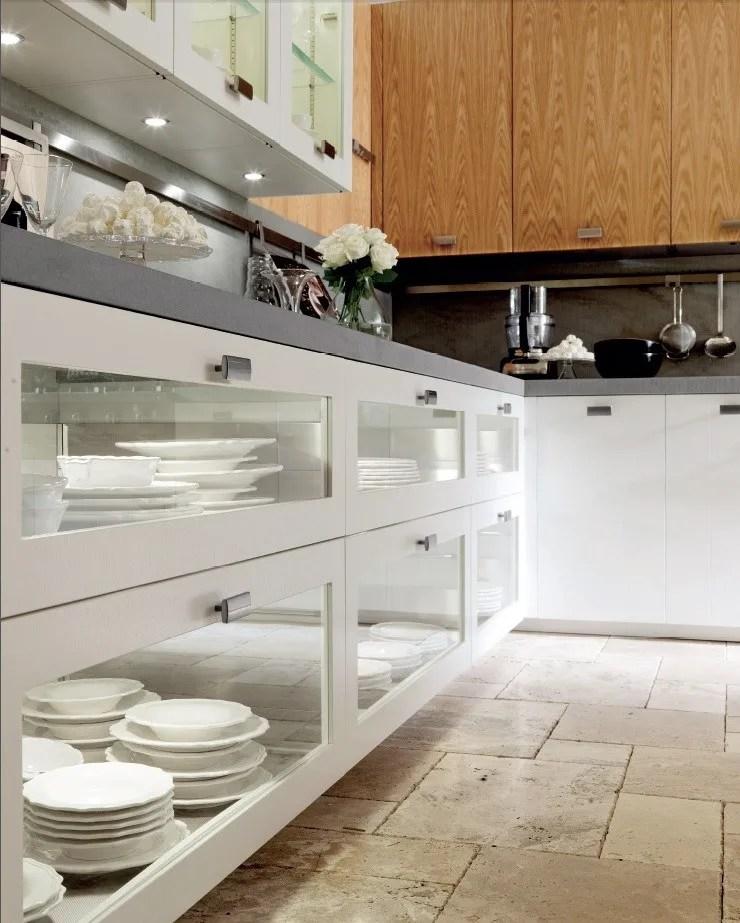 Cucina laccata in rovere con isola NANTA ROVERE BIANCO by
