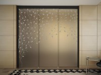 Glass Sliding door with pelmet SINTHESY LIGHT by FOA