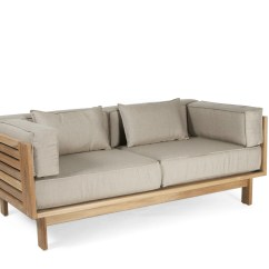 Teak Outdoor Sofa Living Room With Leather Ideas Falsterbo 2 Seater Garden By Skargaarden Design Carl