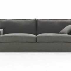 Removable Cover Sofa Samuel Leather 3 Seater Fabric With Grace By Giulio