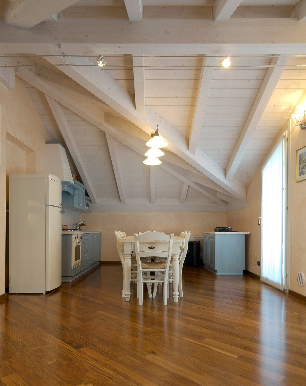 Struttura per copertura in legno Sistema del doppio tetto