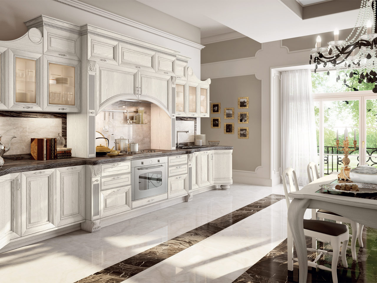 PANTHEON Lacquered kitchen by Cucine Lube