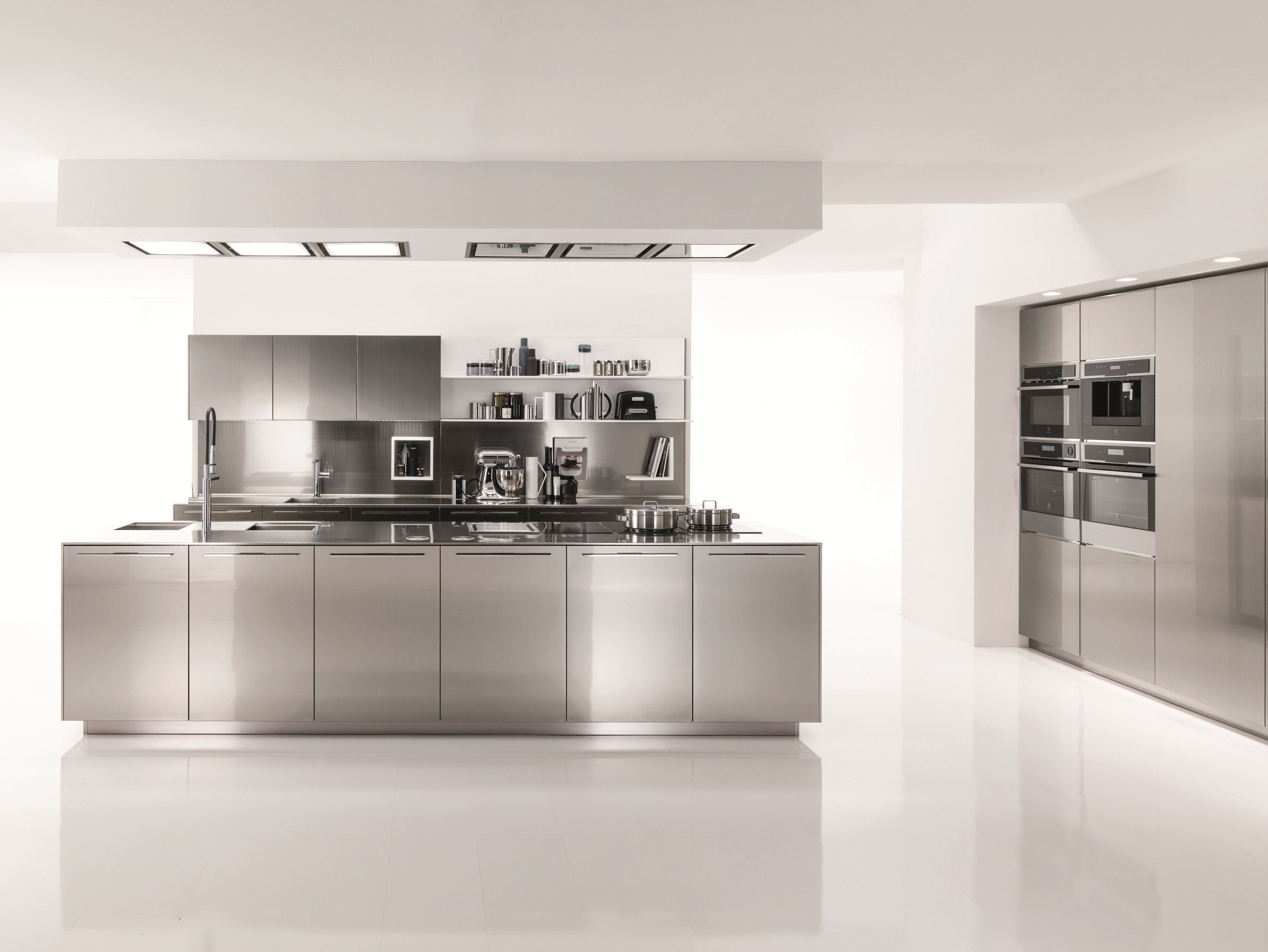 Cucina in acciaio inox FILOFREE STEEL by Euromobil design
