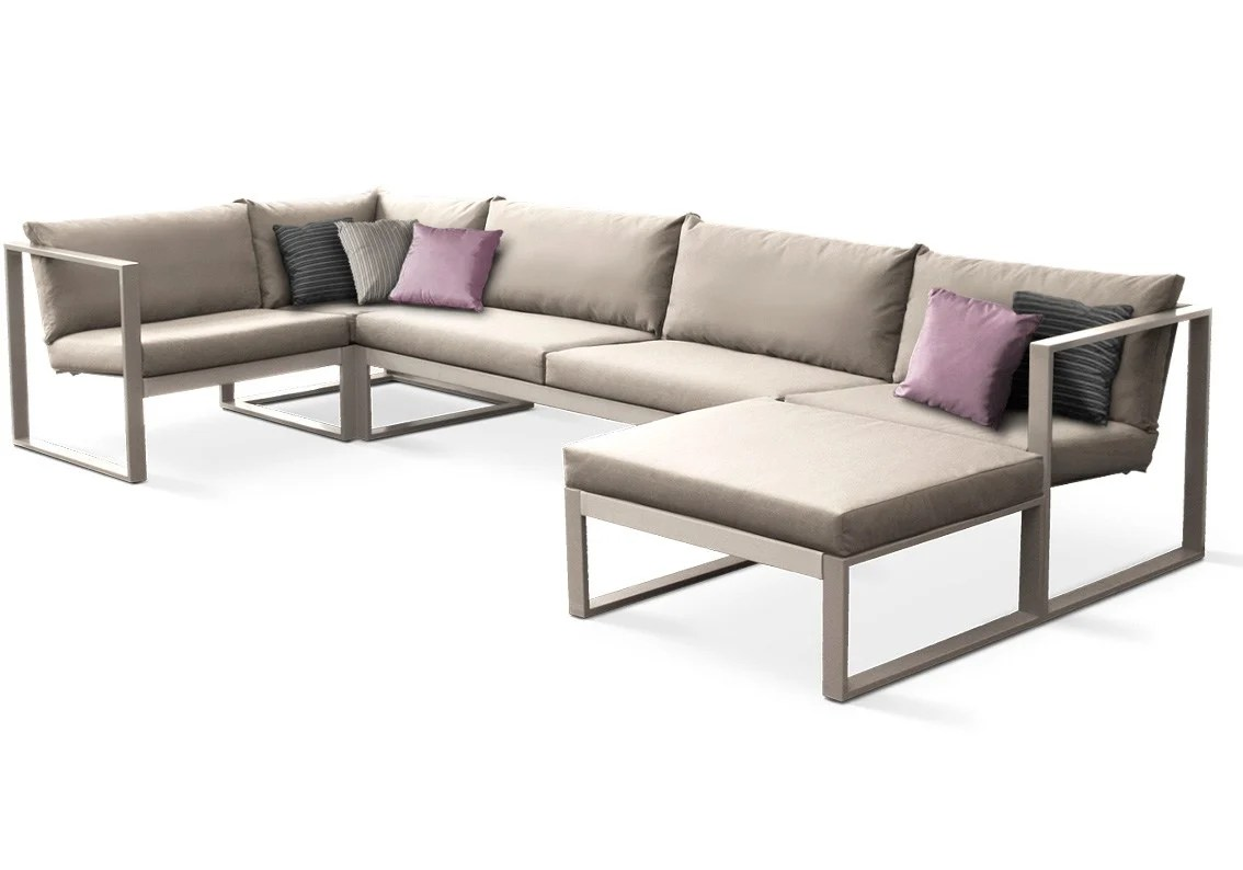 lounging sofa and armchair sets modular lounge by fueradentro design hendrik