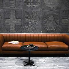 Baseball Leather Sofa Lounge Chaise Quilt By Tacchini Italia Forniture Design