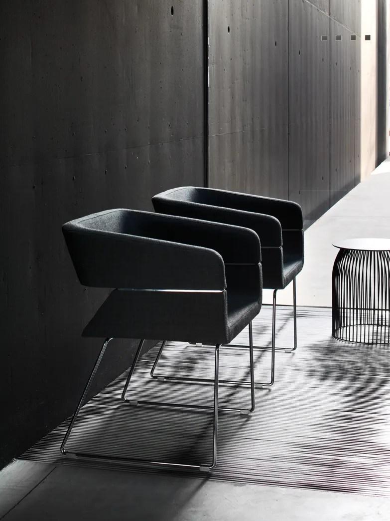 MATRIX Sled base easy chair by La Cividina design Mauro Fadel