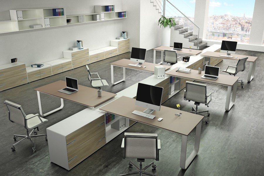 ELLY Sectional office desk by TECNITALIA