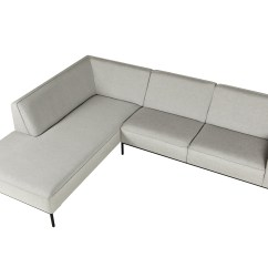 Four Seat Sofa With Chaise Chenille Bed Ville Longue Collection By Sits