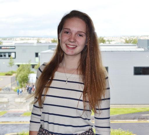 Edinburgh College student Sarah McArthur