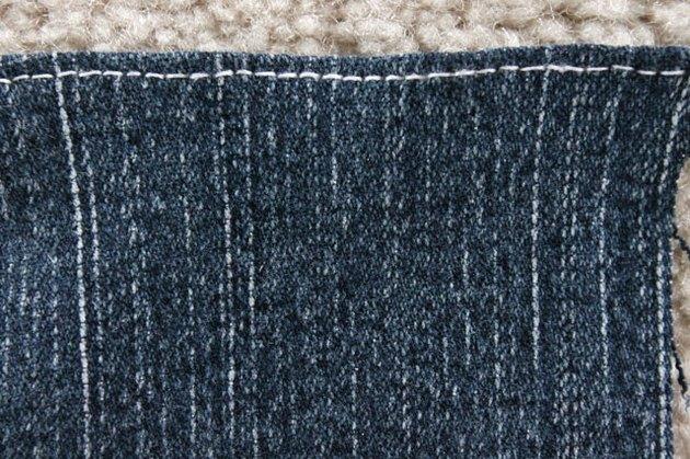 top stitch top edge