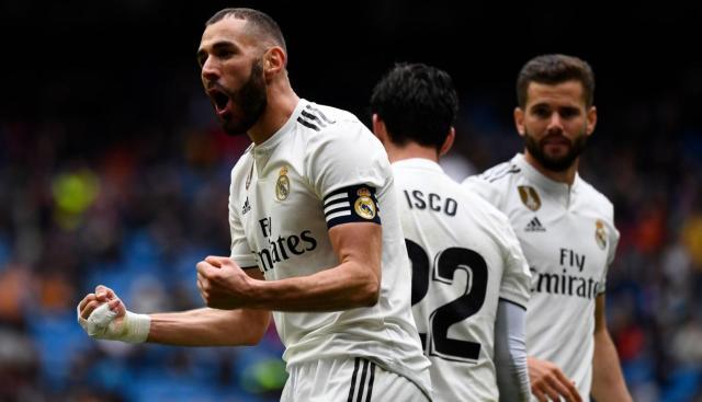 Real Madrid ganó 2-1 al Eibar con doblete de Karim Benzema por la fecha 31° de la Liga española | VIDEO. (Foto: AFP)