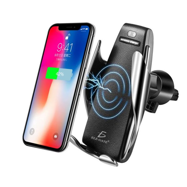 Cargador auto Inalámbrico rapida iPhone Huawei Samsung 10w