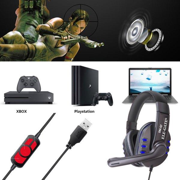 Audifonos Diadema Gamer Usb Audio Xbox 360 Pc Ps4