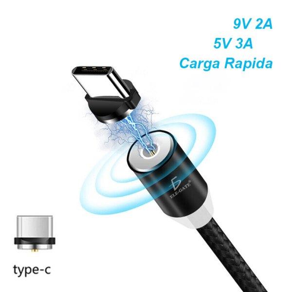 Cable Imán Usb Tipo C TYPE-C Tipo Celular Android Carga Rápida