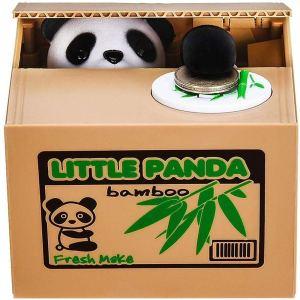 Dinero Robando Oso Ahorro Tanque Codicioso Panda Hucha