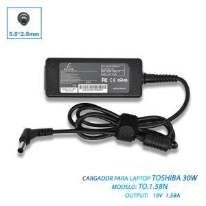 Cargador Laptop Compatible Toshiba Mini 19v 1.58a 5.5*2.5mm