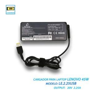 Cargador Lenovo Thinkpad 20v 2.25a 45w Punta Usb Rectangula