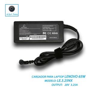 Cargador Lenovo Thinkpad 20v 3.25a 65w Punta 4.0*1.7mm