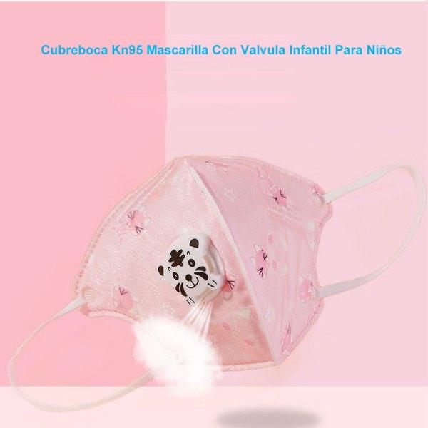 Cubreboca Kn95 Mascarilla Con Valvula Infantil Para Niños