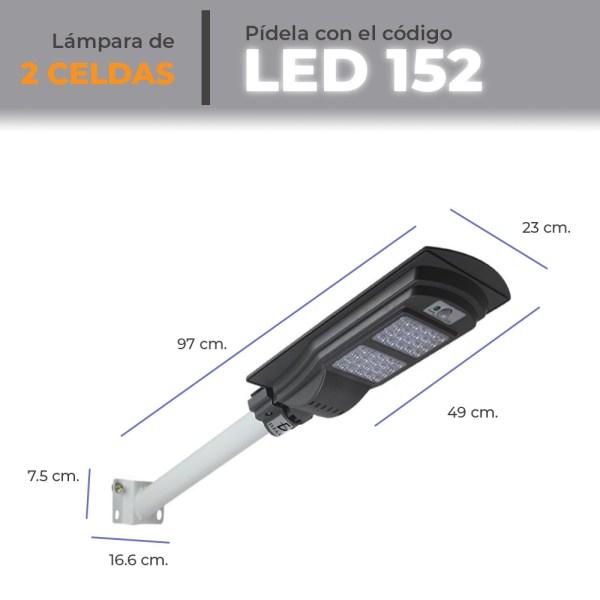 Lámpara Solar 40 Leds Sensor Movimiento Exterior