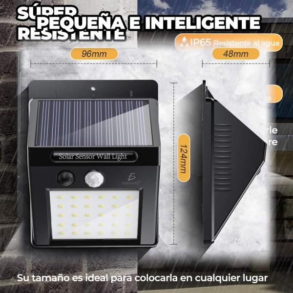 Lampara Led Solar Reflector Exterior Jardin Sensor Luz