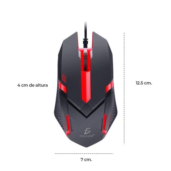 Mouse Gaming LED Alámbrico Usb Respiración Luz Ratón