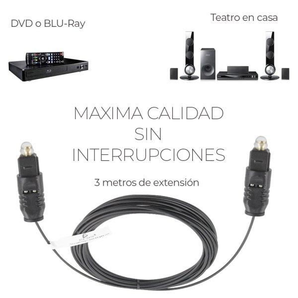 Cable De Fibra Optica 3 Metros Audio Digital Alta Calidad
