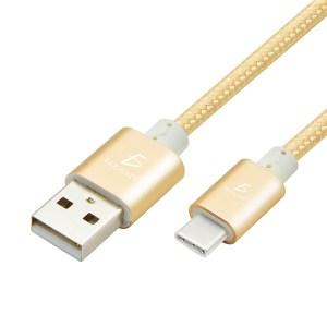 Cable Usb Entrada Tipo c Type-c Reforzado Cubierta Tela