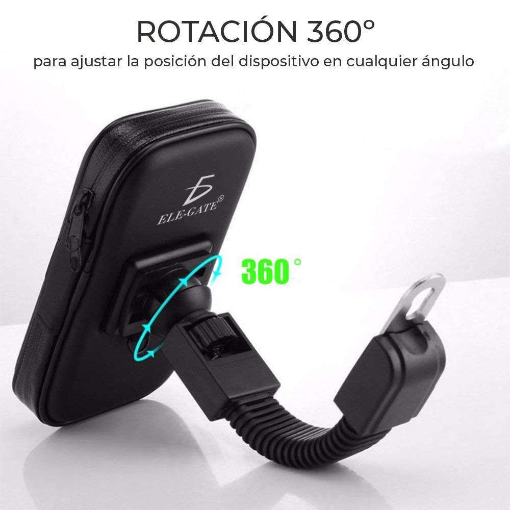 Soporte Teléfono Celular Para Motocicleta Funda Impermeable