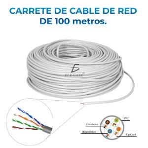 100 Metros Cable Red Utp Cat 5e Rj-45 Blanco Cober