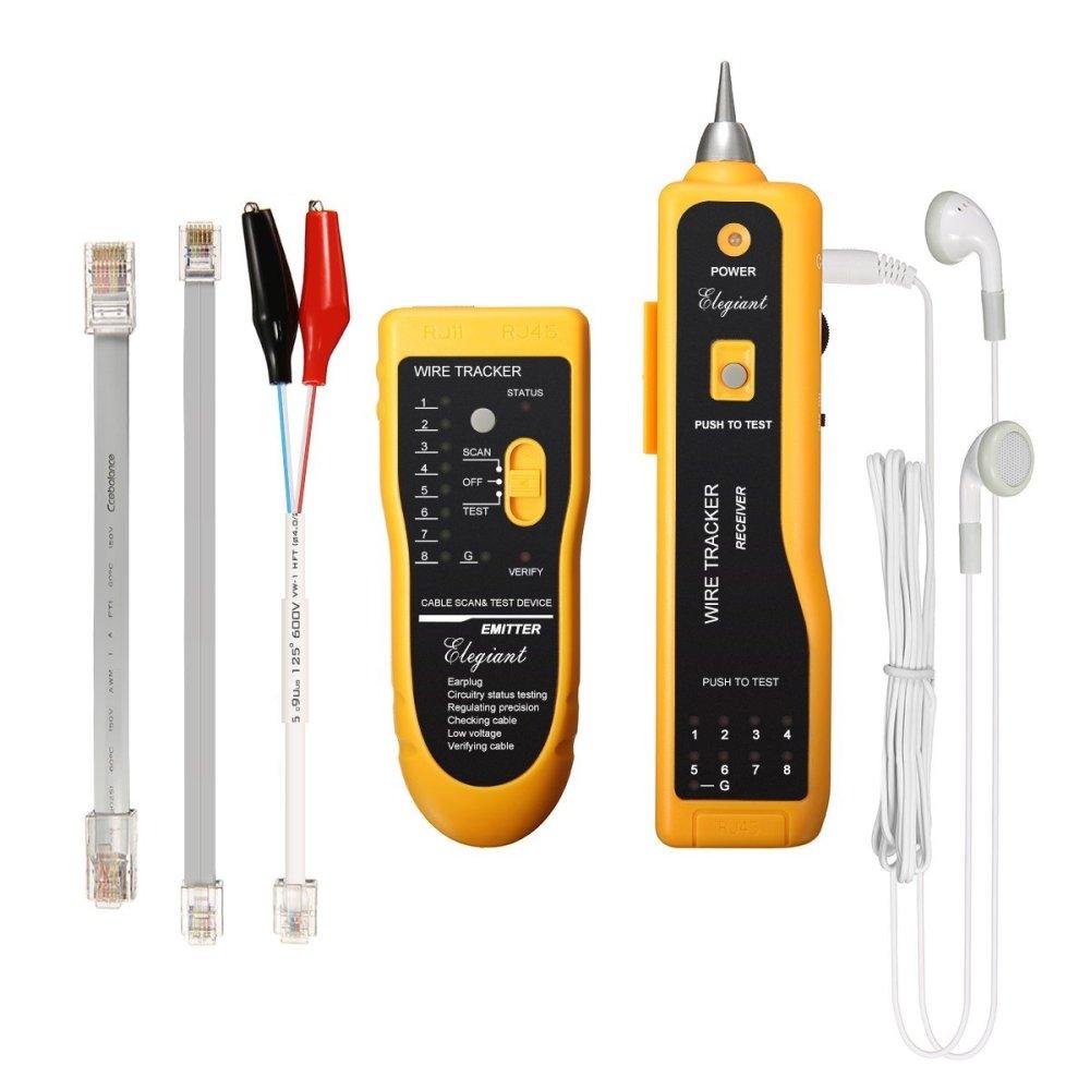 medium resolution of elegiant xq 350 line finder telephone phone rj45 rj11 wire tracker ethernet lan cable tester