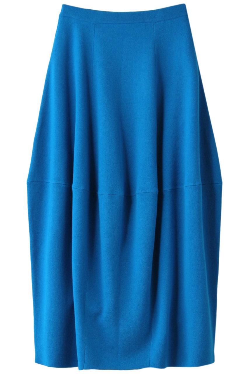 ENFOLD エンフォルド CASH TOUCH ニットコクーンスカート ブルー